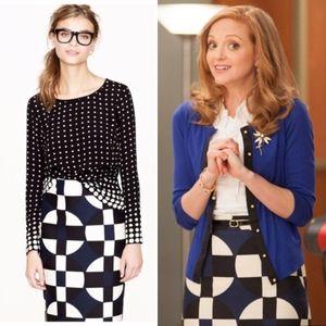 J.Crew No.2 Pencil Skirt in Geometric Print Wool